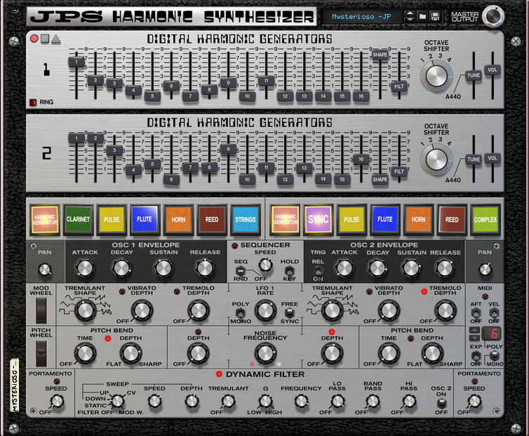 JPS Harmonic Synthesizer v2 (Front View)