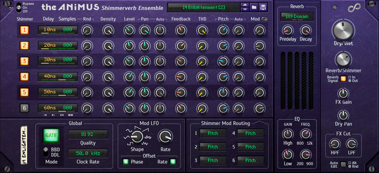 The Animus BBD Shimmerverb Ensemble (Front View)